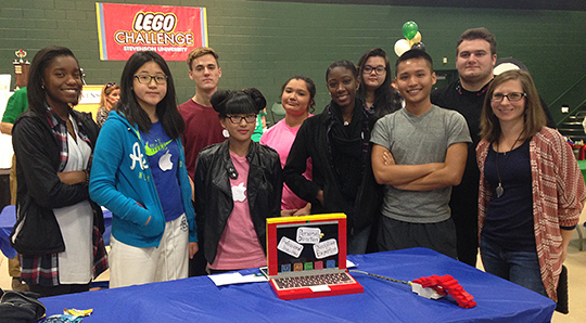Students at the Lego Challenge
