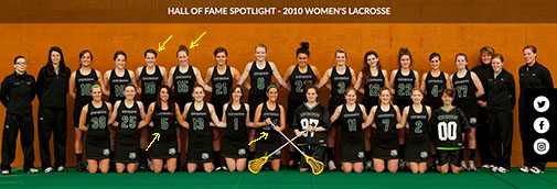 "Women's lacrosse 2010 team named as ""Team of Tradition"""