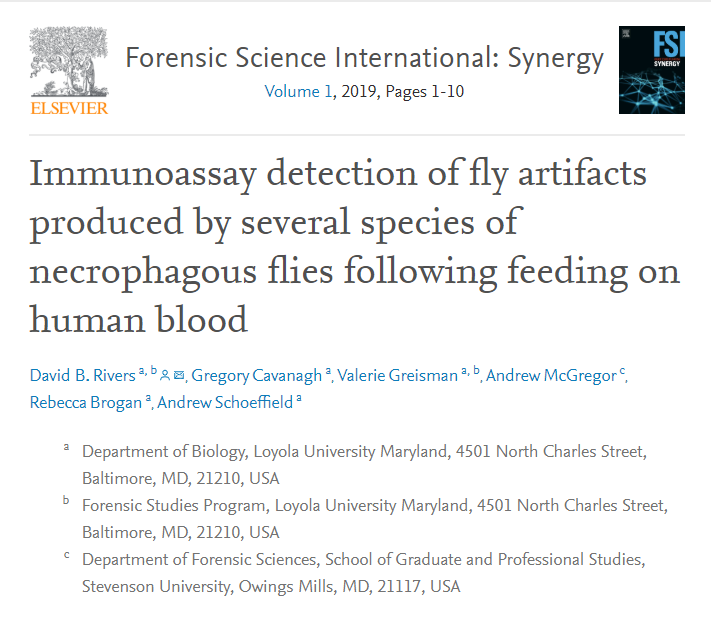 Alum Publishes in Forensic Science International:Synergy