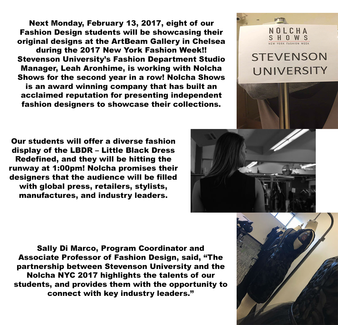 Ones To Watch Stevenson University Fashion Design Students Second Year In The Nolcha Shows During Nyc Fashion Week 2017 Stevenson University