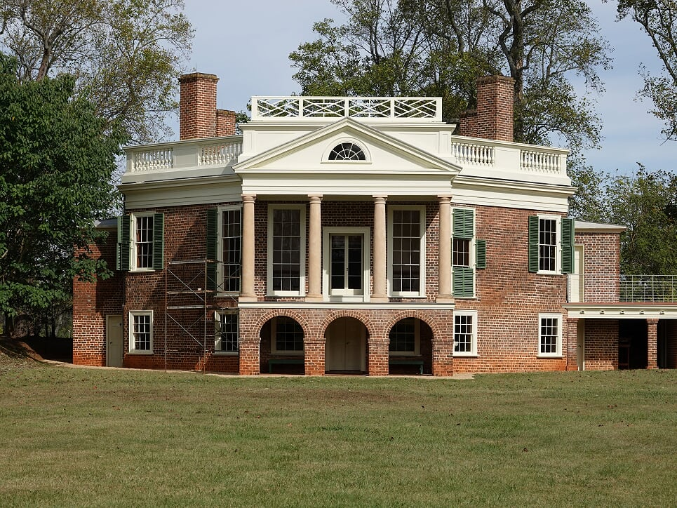 Picture of Thomas Jefferson's summer home named