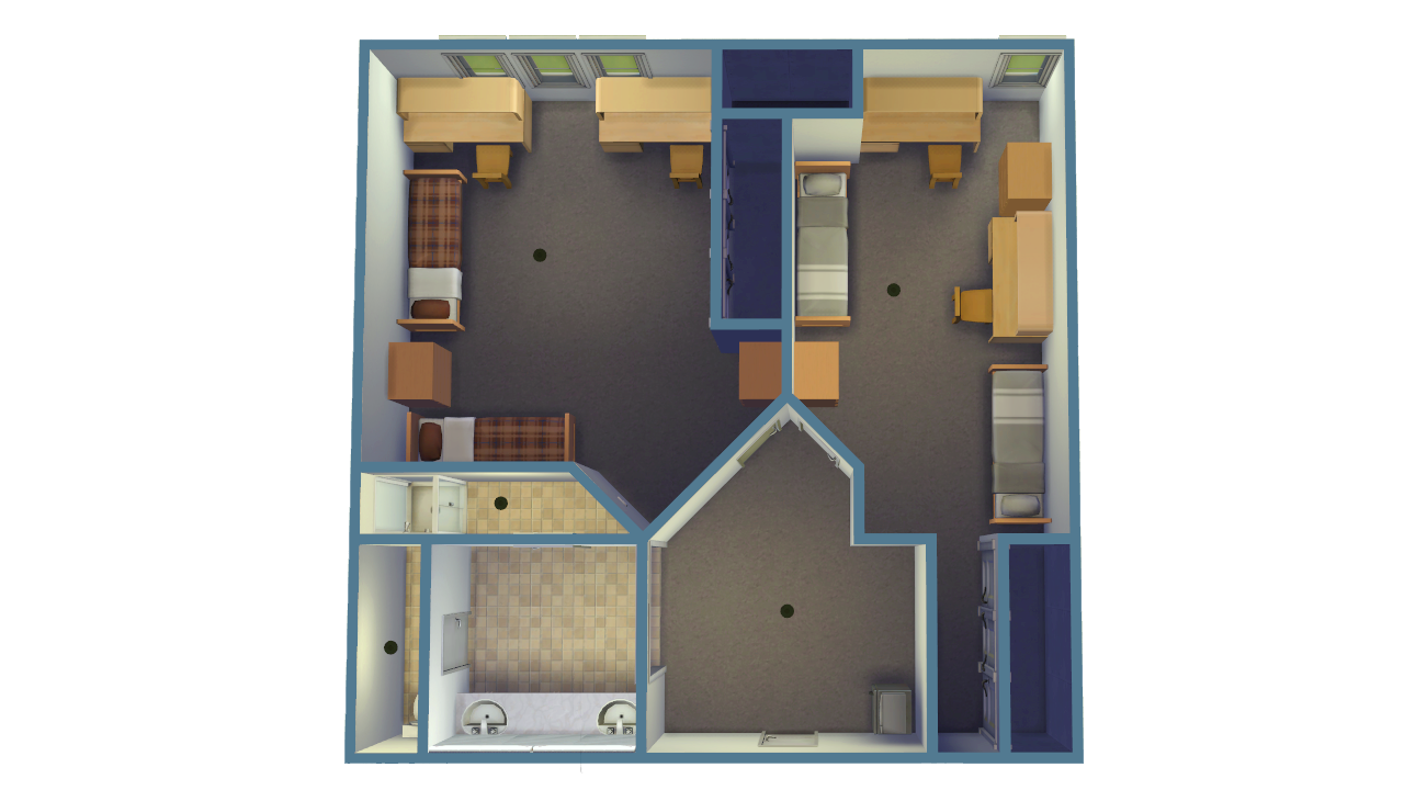 Upper Class Suite Housing - Double Rooms