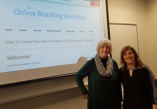 Stephanie Verni and Chip Rouse at brand workshop