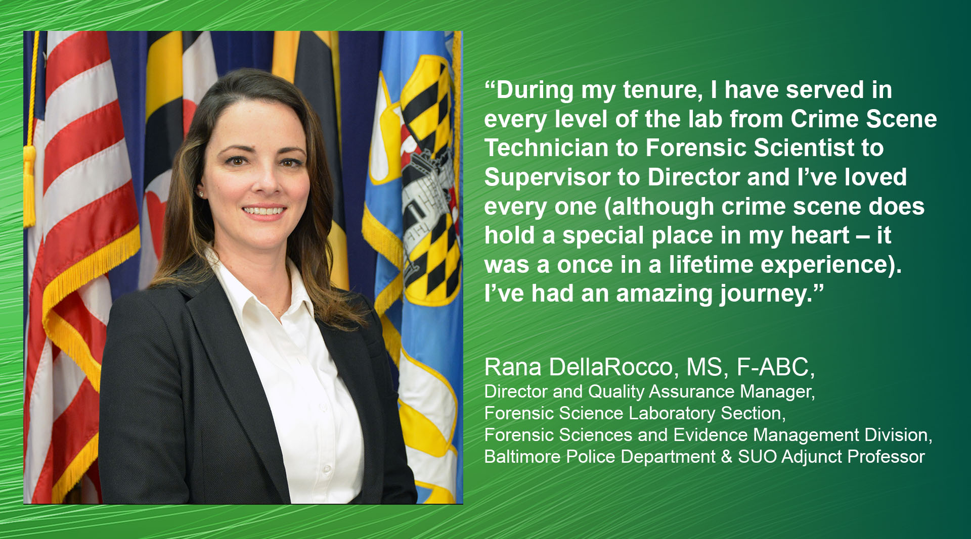 Photo of Rana DellaRocco with quote