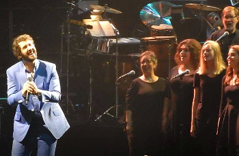 Julia Tucker singing with Josh Groban