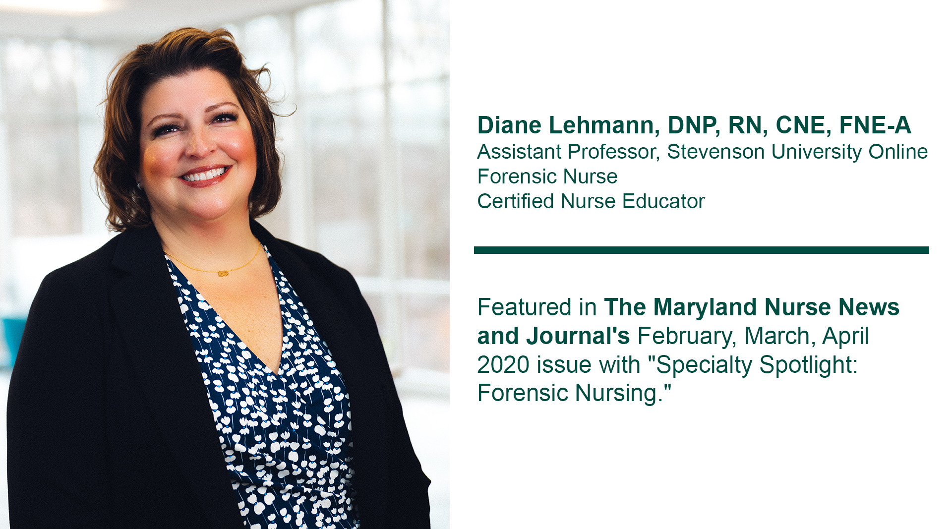 News Suo Faculty Featured In The Md Nurse News And Journal Stevenson University