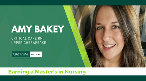 Header with photo of Amy Bakey, Nursing Student