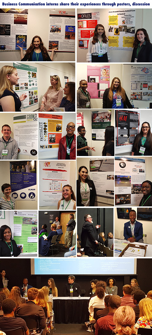 Interns and their posters