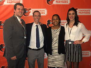 Alex Parker and Orioles sponsorship team