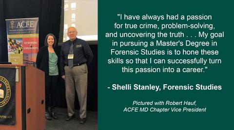 Forensic Studies student with ACFE rep