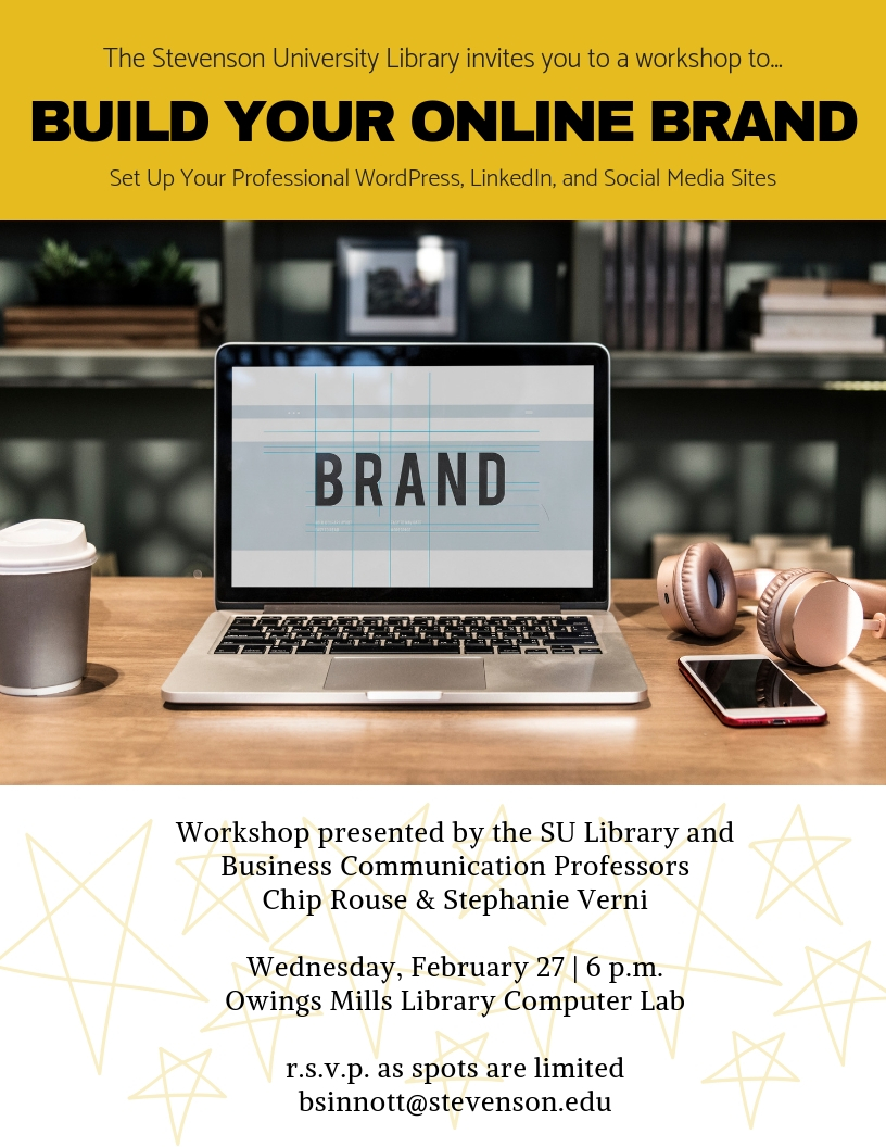 Online branding workshop flyer