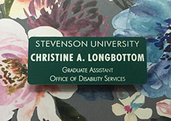 Christine Longbottom, graduate assistant