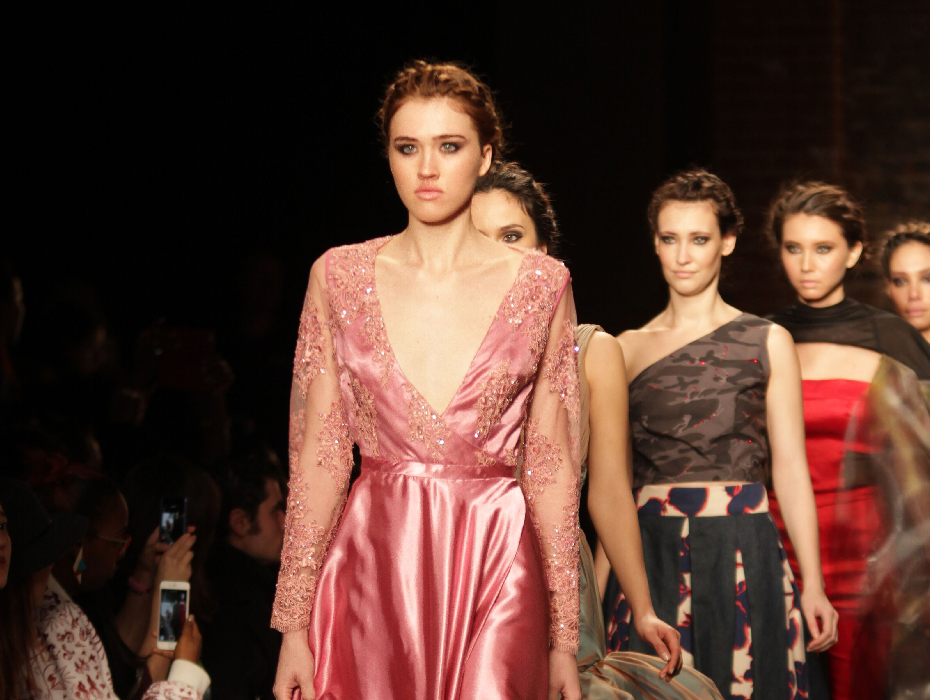 Fashion Design students designs on the runway