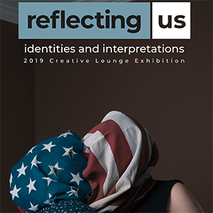 reflecting us poster created by students feature in the exhibition