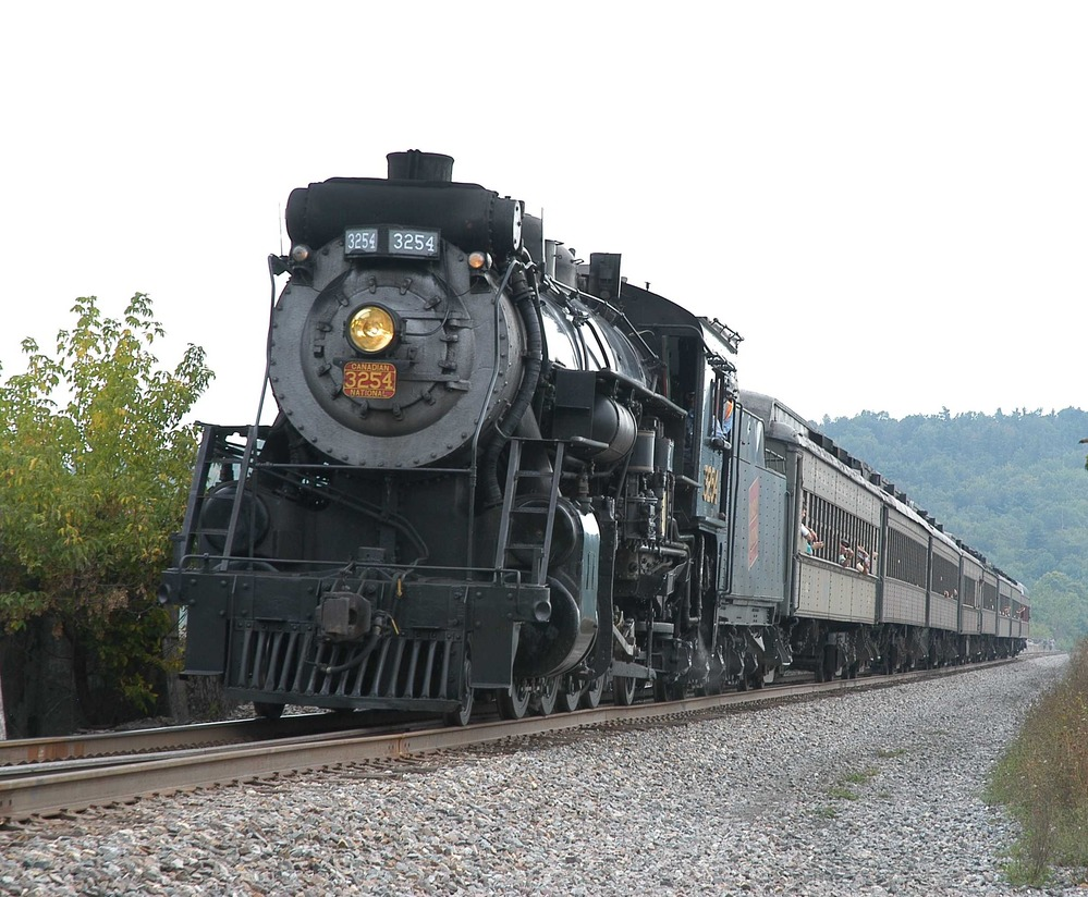Picture of a train on a local rail excursion.