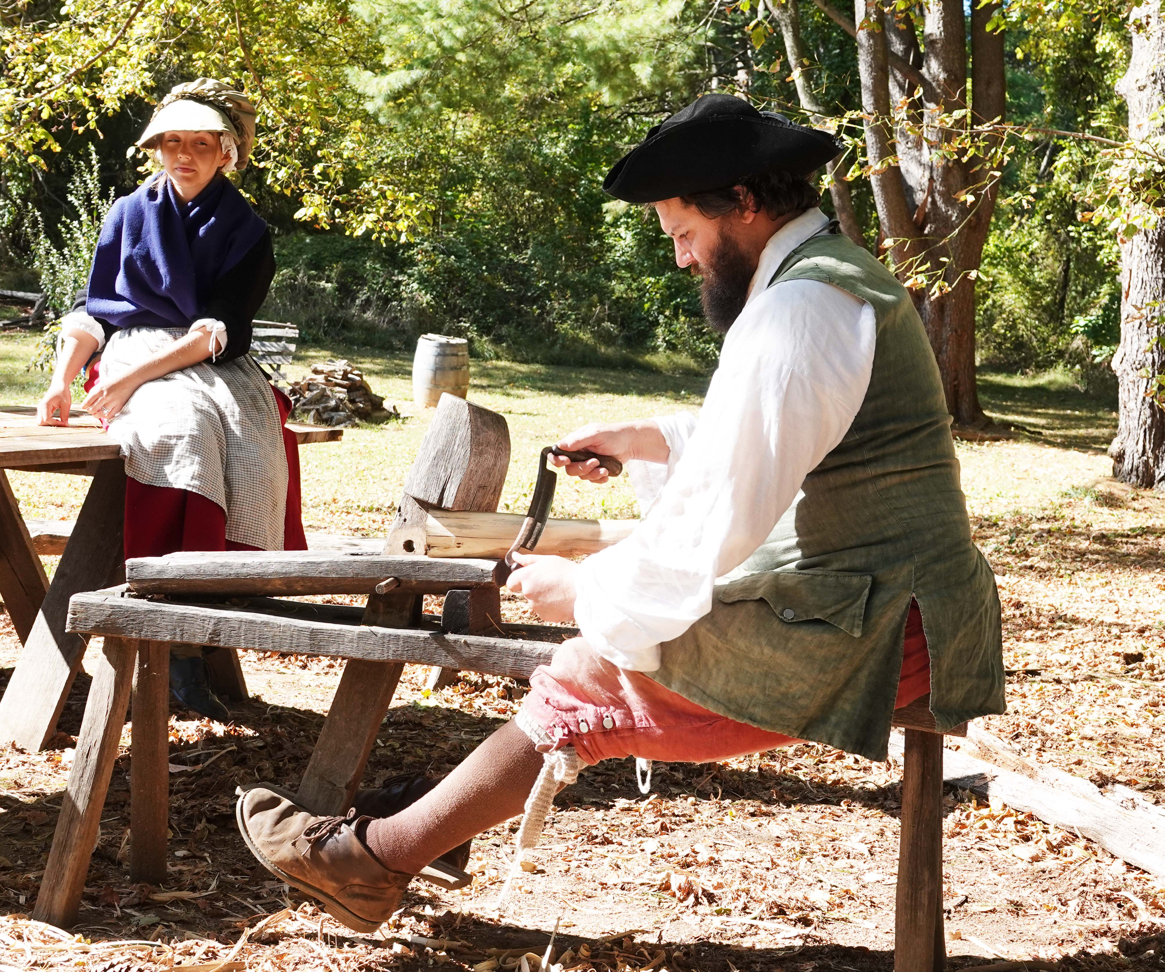 Two living historians tell what it was like to live on the frontier in the 1740s.