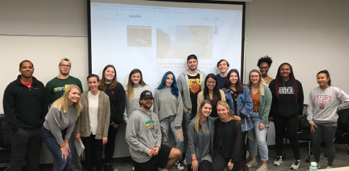 Interns Fall 2019 with alumni