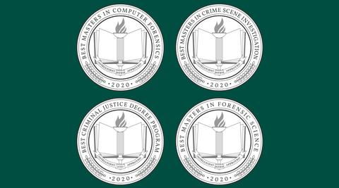 Award Crests on Green Background