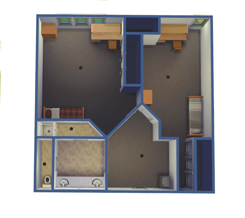 Upper Class Suite Housing - Single Rooms