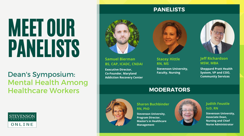 Graphic of panelists and Moderators for Mental Health Symposium