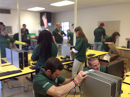 Stevenson University Tuition >> Stevenson Students Build Computer Lab for Under-Resourced New Orleans Elementary School ...