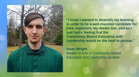 Photo of Isaac Wright with Quote
