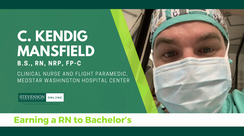 Header with photo of C. Kendig Mansfield, Nursing Student