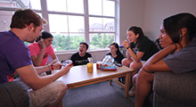 Students in apartment suite