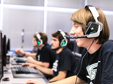 Students playing e-sports